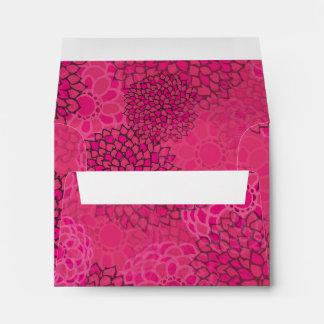 Pink Flower Burst Design Envelope