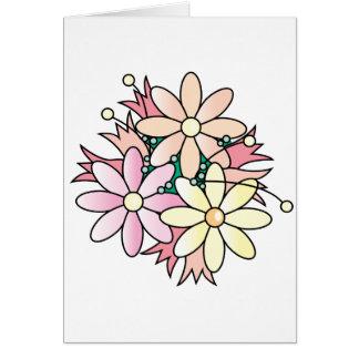 Pink Flower Burst Greeting Card
