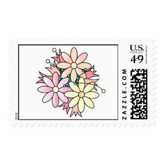 Pink Flower Burst Stamp
