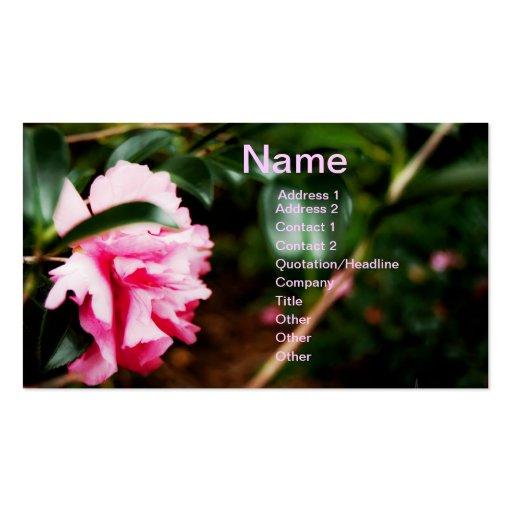 Pink Flower Business Card