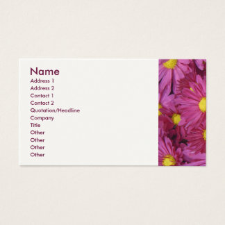 Pink Flower Business Card