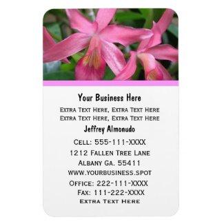 Pink Flower: Business Card: Premium Magnet premiumfleximagnet