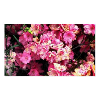 Pink Flower Business Cards