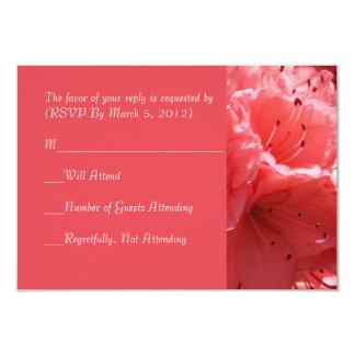 Pink Flower Butterfly RSVP card