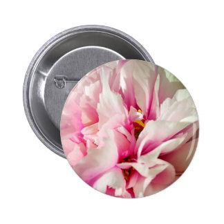 Pink flower pinback button