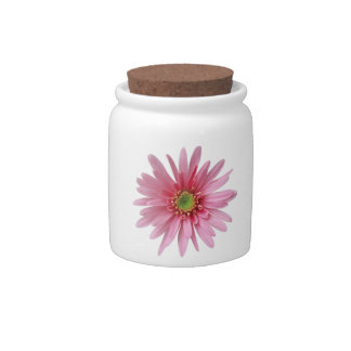 Pink Flower Candy Jar
