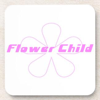 Pink Flower Child Coaster