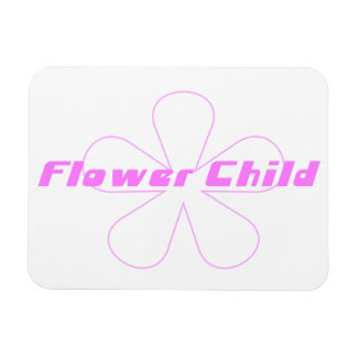 Pink Flower Child Rectangular Photo Magnet