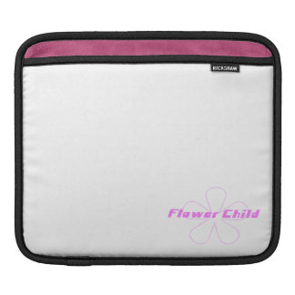 Pink Flower Child Sleeve For iPads
