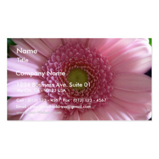 Pink Flower Close Up Big Flower Double-Sided Standard Business Cards (Pack Of 100)