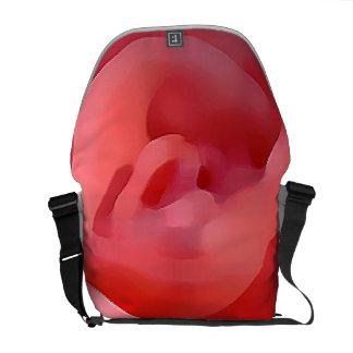 Pink Flower close up Messenger Bag