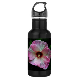 Pink Flower Close Up Photo Stainless Steel Water Bottle