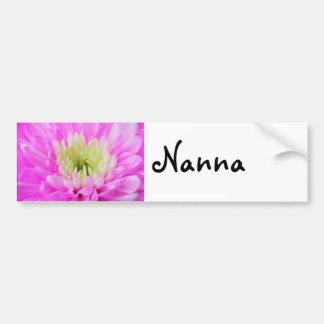 Pink Flower Closeup Car Bumper Sticker