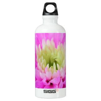 Pink Flower Closeup Water Bottle