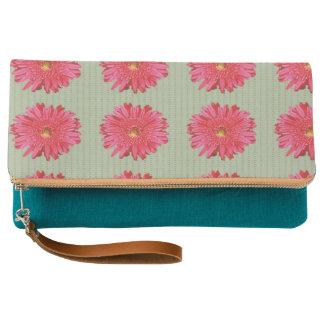 pink flower clutch