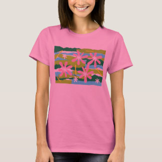 Pink Flower Collage Long Sleeve T-Shirt