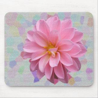 Pink flower confetti alfombrillas de raton