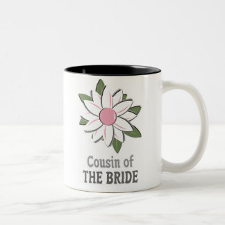Pink Flower Cousin of Bride Two-Tone Coffee Mug