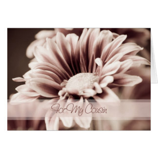 Pink Flower Cousin Thank You Maid of Honor Card