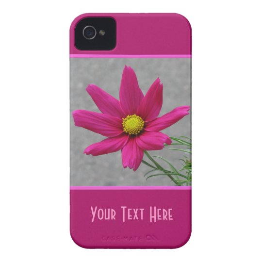 Pink Flower custom  iPhone case-mate iPhone 4 Cover