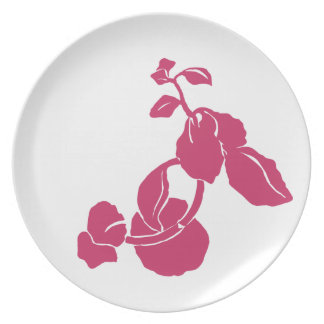 Pink Flower Custom Plate