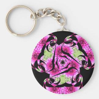Pink Flower Cut Nov 2012 Keychain