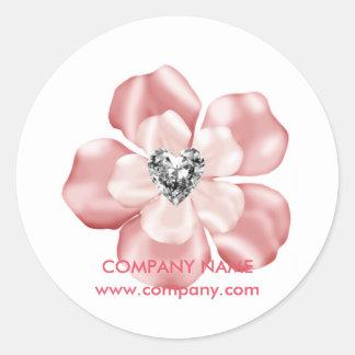 pink flower daycare art dance teacher childcare classic round sticker