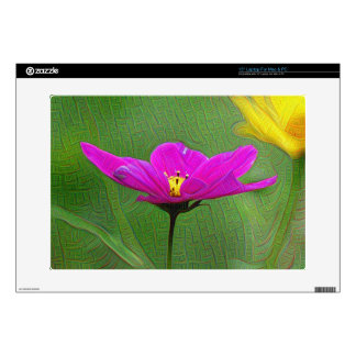 Pink Flower, DeepDream style Skin For Laptop