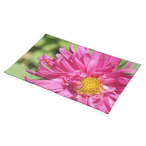 Pink Flower Dining Room Table Place Mat Great Gift Zazzle