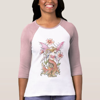 Pink Flower Fairy Art T-Shirt