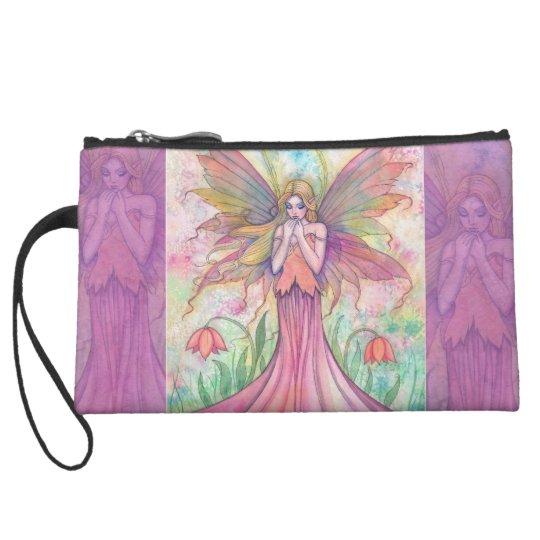 Pink Flower Fairy Fantasy Art Mini Bag