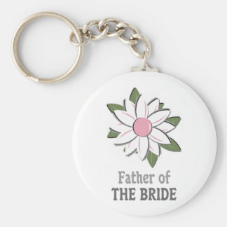 Pink Flower Father of the Bride Keychain