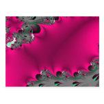 pink flower fractal postcard