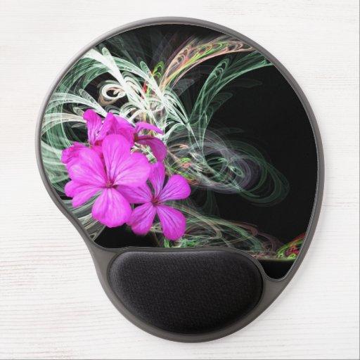 Pink Flower Fractual - Gel Mousepad