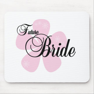 Pink Flower Future Bride Mouse Pad
