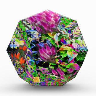 Pink Flower Garden Acrylic Award