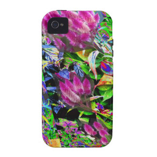 Pink Flower Garden Vibe iPhone 4 Cases
