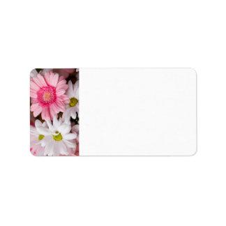 PINK FLOWER GARDEN PERSONALIZED ADDRESS LABELS
