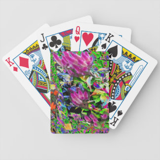 Pink Flower Garden Bicycle Playing Cards