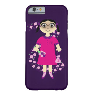 Pink Flower Girl Barely There iPhone 6 Case