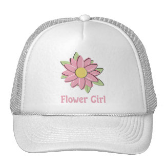 Pink Flower Girl Hat
