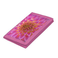Pink Flower Girl Wallet at Zazzle