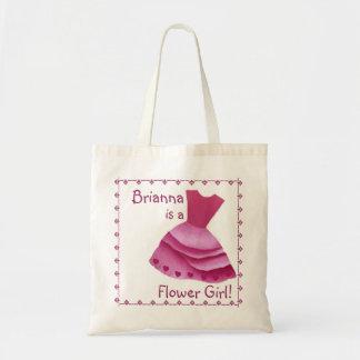 PINK Flower Girl Wedding Cotton Tote Bag