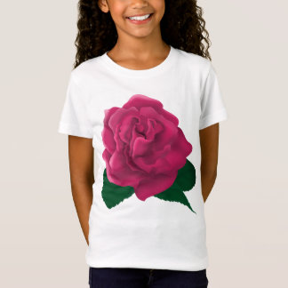 Pink flower Girls' T-Shirt