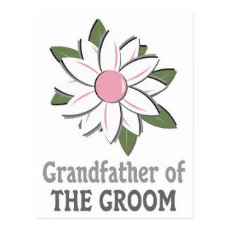 Pink Flower Groom Grandfather Postcard