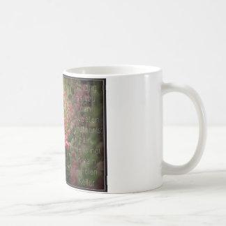 Pink Flower & Helen Keller Kindness Quote Coffee Mug