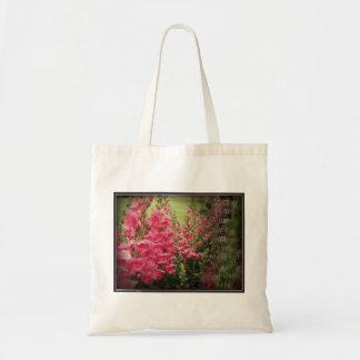 Pink Flower & Helen Keller Kindness Quote Tote Bag