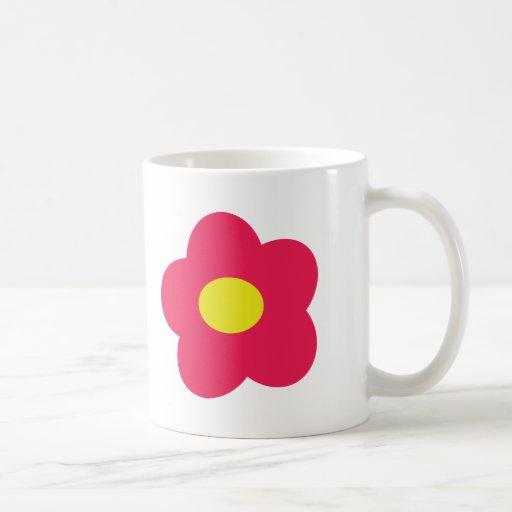 pink flower icon coffee mug