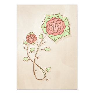 Pink flower illustration card