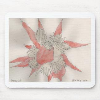 Pink Flower Illustration Mouse Pad
